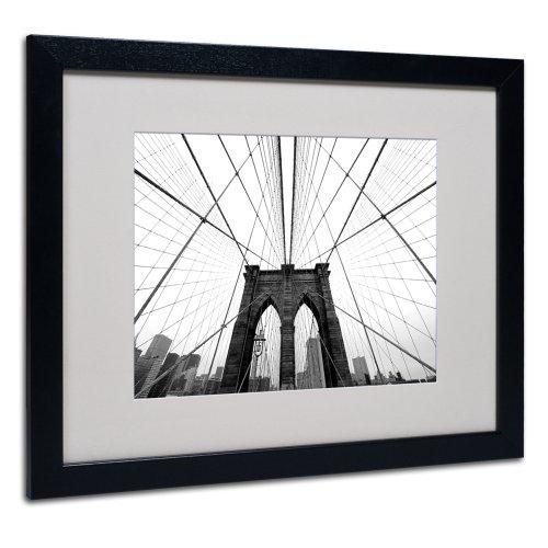 NYC Brooklyn Bridge Artwork by Nina Papiorek in Black Frame, 16 by - Frames In Nyc