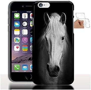 Coque iPhone 7 Silicone Cheval Noir et Blanc | Gel incassable | Collection Animal | iPhone 8