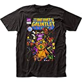 Thanos - Mens The Infinity Gauntlet Fitted T-Shirt, Size: X-Large, Color: Black