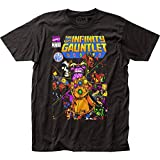 Thanos - Mens The Infinity Gauntlet Fitted T-Shirt, Size: Medium, Color: Black