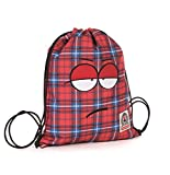 Gymsack - INVICTA - OLLIE FACE - Sport & Leisure Bag - Red Tartan 3Lt