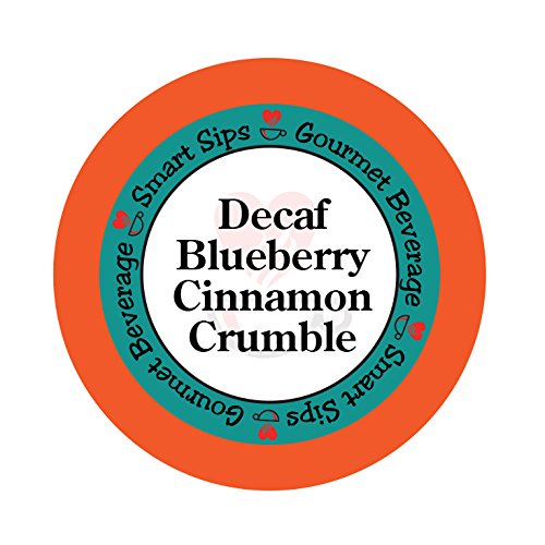 Smart Sips, Decaf Blueberry Cinnamon Crumble Flavored Coffee, 24 Count, Compatible With All Keurig K-cup (Butter Pecan Flavored Decaf Coffee)