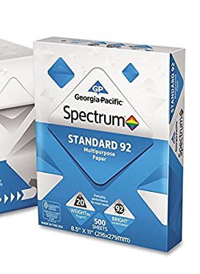 Georgia Pacific - Spectrum Standard 92 Multipurpose Paper, 20lb, 8-1/2 x 11