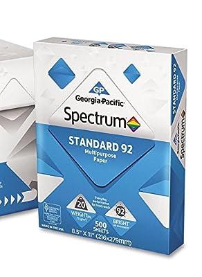 Georgia Pacific - Spectrum Standard 92 Multipurpose Paper, 20lb, 8-1/2 x 11