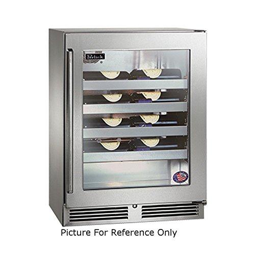 Perlick HD24WS 23-7/8'W Undercounter Reach-In Shallow-Depth Wine Reserve Refrigerator