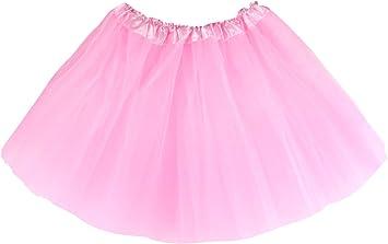 Gonna in Tulle per Bambina Bianco Principessa Sottoveste Costume Ballerina Carnevale Balletto Classico Tutu