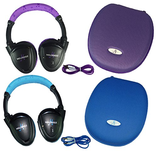 el Fold Flat Infrared Rear Entertainment System DVD Player IR Headphones for in Car Listening with Case and 3.5mm Auxiliary Cord ()