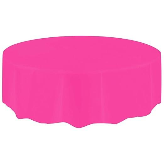 Amazon Com Binmer Disposable Tablecloth Round Large Plastic Table