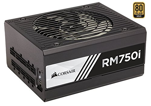 8 opinioni per Corsair RM750i- power supply units (100- 240 V, 20+4 pin ATX, 47- 63 Hz, 5- 10,