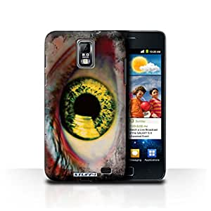 STUFF4 Phone Case / Cover for Samsung Galaxy S2 Duos/i929 / Yellow Design / Eye/Iris Collection