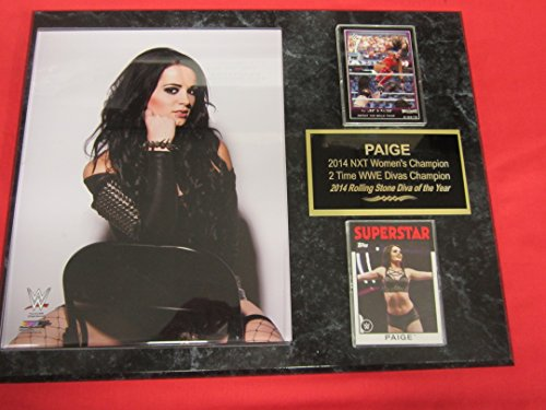 PAIGE WWE 2 Card Collector Plaque #2 w/8x10 Color Photo