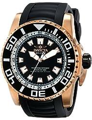 Invicta Mens 14666 Pro Diver Analog Display Swiss Quartz Black Watch