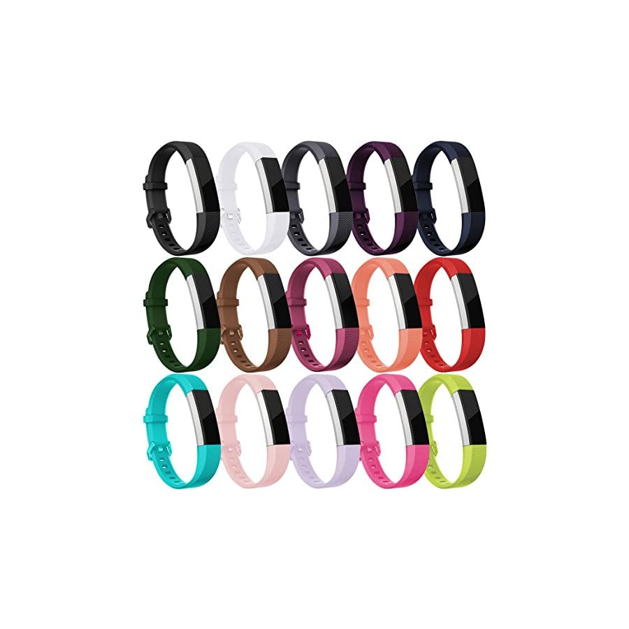Maledan Bands for Fitbit Alta HR/Ace and Alta, 15 Pack