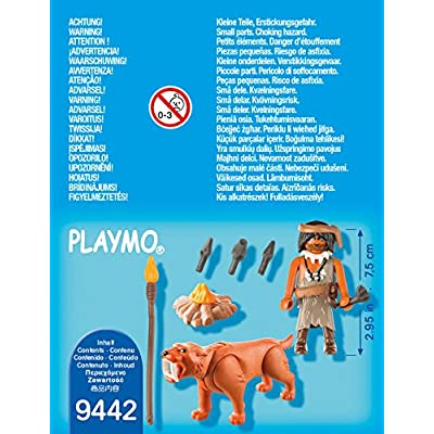Playmobil 9442 Caveman with Sabertooth Tiger: Toys & Games