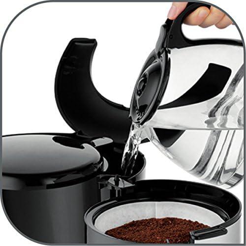 Moulinex FG362810 Cafetière Filtre Principio Programmable 10-15 Tasses Verseuse Verre Anti-Goutte Maintien au Chaud Café Inox
