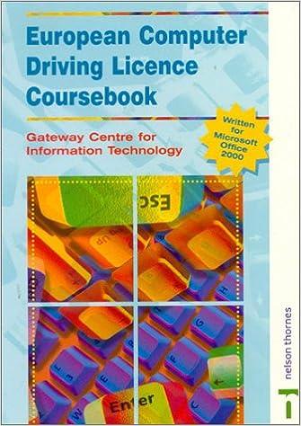 European Computer Driving License Coursebook: 9780748760381