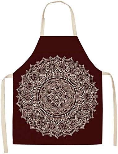 Delantal de la casa Delantal delantal 1 piezas Mandala Impreso delantal for el hogar mujer cocinar