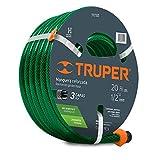 Truper MAN-20X1/2RE, Manguera armada reforzadas 3 capas, conexiones plásticas, 1/2', 20 m