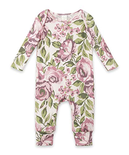 Tesa Babe Spring Floral Romper for Newborns, Baby Girls & Toddlers, Multi (LS Bella Floral, 3-6 Months)