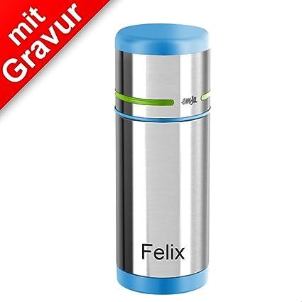Emsa Mobility Kids Isoflasche Isolierflasche Thermosflasche Blau Grün 350 ml