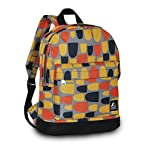 """Everest Junior Backpack, Multi Dot, One Size 7 <p>Available in a range of eye-catching colors and prints, this backpack is perfect for stylish young kids on the go. The Everest Junior Kids Backpack is made from polyester fabric and features a colorful allover print with a zip top main compartment and a zip front compartment to hold smaller items. Perfect for kids heading off to preschool or day care, this slim backpack offers a distinctive, eye-catching design that can be used to carry school supplies, art supplies, or lunch. Adjustable backpack straps and a looped top haul handle make it easy and comfortable for little ones to carry. Dimensions 10"""" x 3.5"""" x 13"""" (LxWxH) Durable compact size backpack for kids and youths Weighing in at 8.8 ounces (250g), this ultra lightweight backpack is one of the easiest things to wear and carry Easy access front pocket with hidden zipper closure Available in fun prints for the ultimate personal expression Imported</p>"""