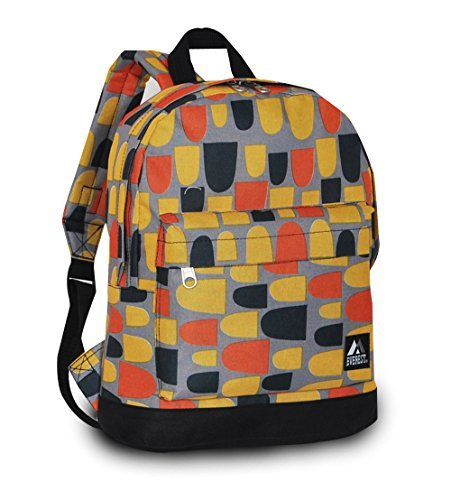 """Everest Junior Backpack, Multi Dot, One Size 3 <p>Available in a range of eye-catching colors and prints, this backpack is perfect for stylish young kids on the go. The Everest Junior Kids Backpack is made from polyester fabric and features a colorful allover print with a zip top main compartment and a zip front compartment to hold smaller items. Perfect for kids heading off to preschool or day care, this slim backpack offers a distinctive, eye-catching design that can be used to carry school supplies, art supplies, or lunch. Adjustable backpack straps and a looped top haul handle make it easy and comfortable for little ones to carry. Dimensions 10"""" x 3.5"""" x 13"""" (LxWxH) Durable compact size backpack for kids and youths Weighing in at 8.8 ounces (250g), this ultra lightweight backpack is one of the easiest things to wear and carry Easy access front pocket with hidden zipper closure Available in fun prints for the ultimate personal expression Imported</p>"""