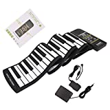 ULKEME 88 Key Electronic Piano Keyboard Flexible Roll Up With Loud Speaker US Plug