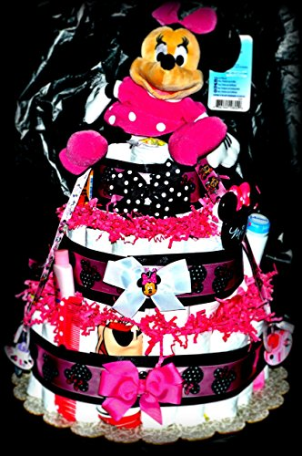Minne Mouse Themed Diaper Cake