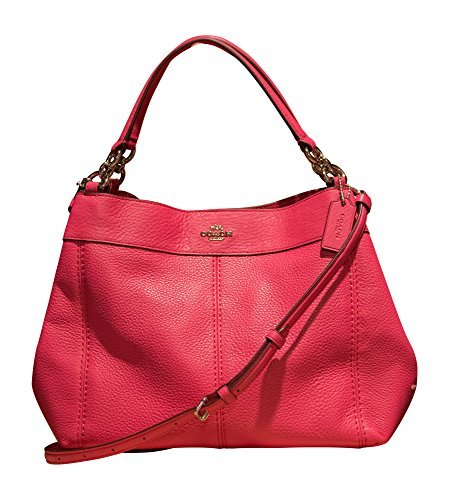 Pink Coach Purse - Coach Pebbled Leather Small Lexy Shoulder Bag, Magenta