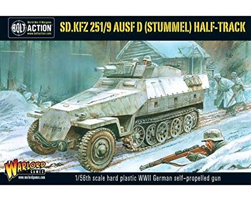 Bolt Action Sd.Kfz 251/9 Ausf D (Stummel) Half Track 1:56 WWII Military Wargaming Plastic Model Kit