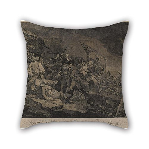 Oil Painting John Norman - The Battle At Bunker's Hill, Or The Death Of General Warren Throw Pillow Case 18 X 18 Inches / 45 By 45 Cm Best Choice For Family Teens Boys Home Theater Bedding Bar Sea