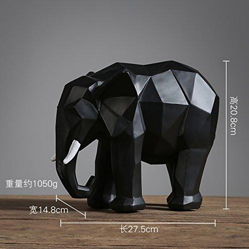 KIKIXI Stile Nordico Soggiorno TV Cabinet Cabinet Decor della Decorazione Elephant Creative Ufficio Europeo Desktop Ornamenti Origami,Nero