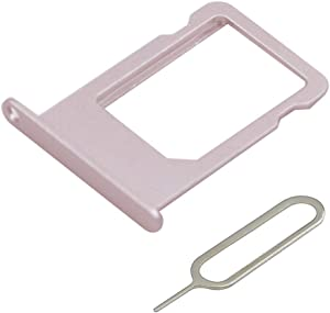 MMOBIEL SIM Card Tray Slot Replacement Part Compatible with iPhone 6S - 4.7 Inch (Rosegold) incl Sim pin