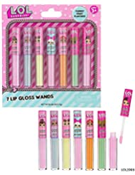 L.O.L SURPRISE 7 Flavored Lip Gloss Wands, pink