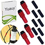 Yuauy 4 PCs Red Mini Inline Bicycle Cable Adjusters w/End Caps