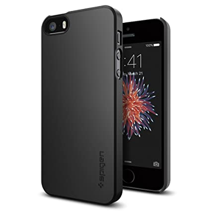 Spigen Thin Fit Designed For Apple I Phone Se Case (2016)   Black by Spigen