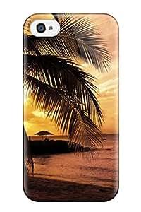 Unique Design Iphone 4/4s Durable Tpu Case Cover Skyline Tropical