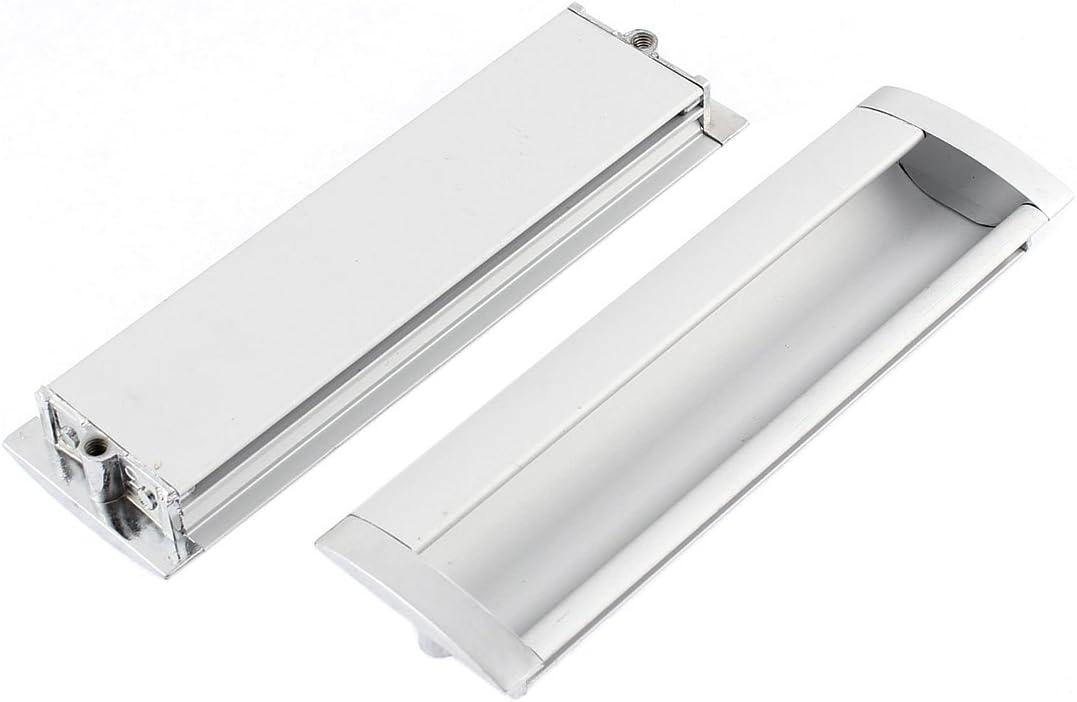 Aexit Puerta corredera del gabinete Rectángulo de aleación de aluminio empotrado empotrado tirador 140 x 42 (model: K2032OIV-4057LP) mm 2 piezas: Amazon.es: Bricolaje y herramientas