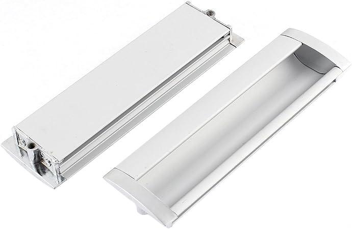 SOURCING MAP Aluminio Aleación Rectangular Nivel Empotrado Tirador 140 x 42mm 2 piezas: Amazon.es: Bricolaje y herramientas