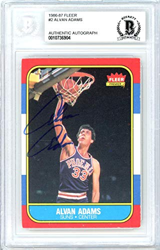 - Alvan Adams Autographed 1986 Fleer Card #2 Phoenix Suns Beckett BAS #10736904 - Beckett Authentication
