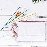 EOOUT 16Pcs Clear Poly Zip Envelope Plastic