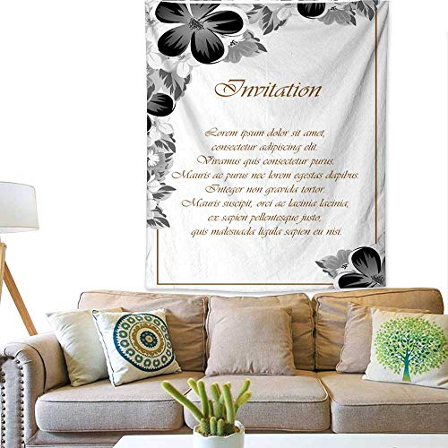 BlountDecor Dormitory Tapestry Frame of Monochrome Colors for Design Postcards Greeting Invitation for a Birthday Valentine s Day Wedding Party Holiday 57W x 74L INCH ()