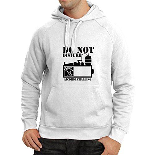 lepni.me N4221H Hoodie Alchohol Charging (XX-Large White Black)