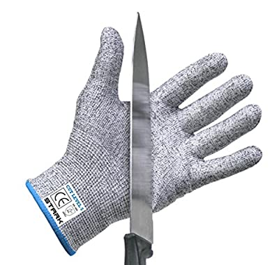 Cut Resistant Gloves by Stark SafeTM - Best Food Grade Kitchen Level 5 Cut Protection - Lightweight, Breathable, and Extra Comfortable - Available in Sizes Medium, Large, XXL - Protect Your Hands Today!