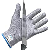 Cut Resistant Gloves by Stark Safe (Small) - Best Food Grade Kitchen Level 5 Cut Protection - Lightweight, Breathable, and Extra Comfortable - Available in Sizes Medium, Large, XXL - Protect Your Hands Today!