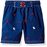 Wippette Baby Boys' Toddler Girls' Crabs Swim Trunk, Navy, 4T