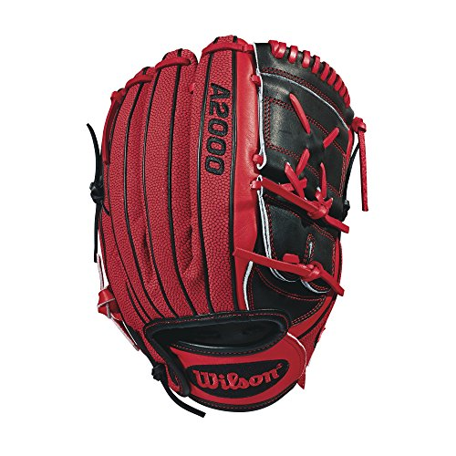 Wilson 2018 A2000 Ma14 GM Pitcher's Gloves - Right Hand Throw Black/Red, 12.25