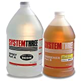 System Three 0102K46 Medium Amber General Purpose Epoxy Kit with #2 Medium Hardener, 1.5 gal Bottle