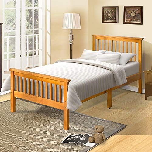 Harper Bright Designs Twin Bed Frame for Kids Yellow