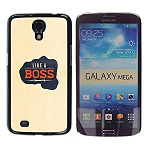 Paccase / SLIM PC / Aliminium Casa Carcasa Funda Case Cover para - Like A Boss Electric Quote Fist Punch Yellow - Samsung Galaxy Mega 6.3 I9200 SGH-i527